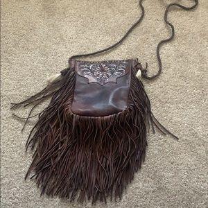 Free People Brown Leather Bag